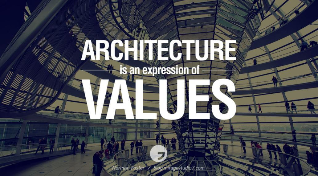 Architecture is an expression of values