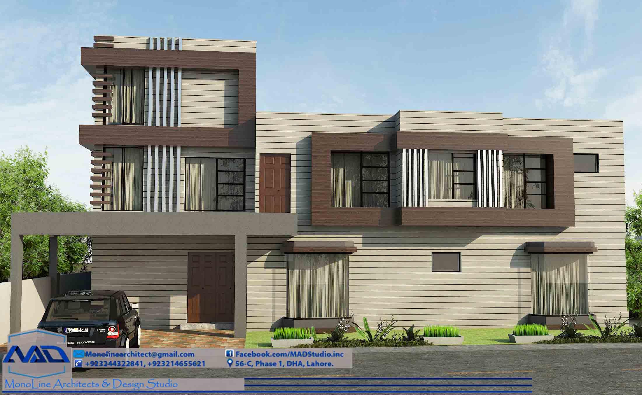 2 kanal house design by monoline architects