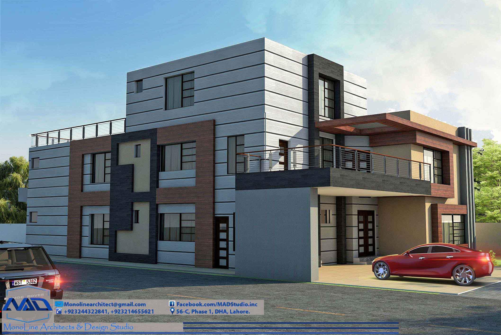 1 kanal house design by monoline architects