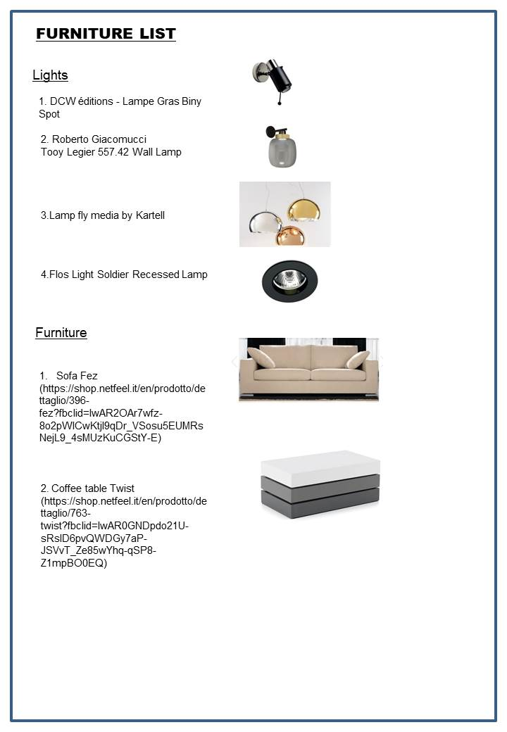 furniture list