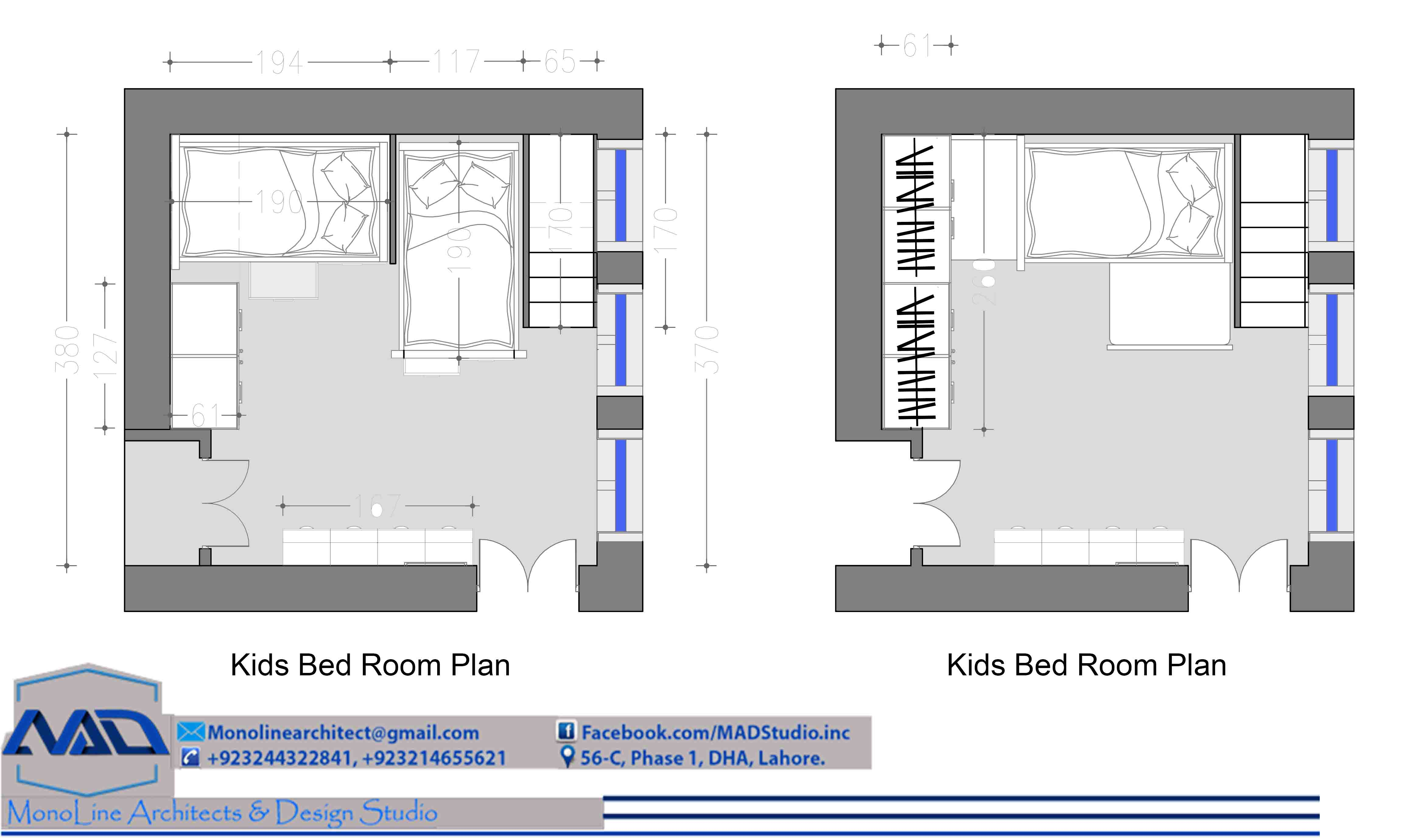 kids room layout plan