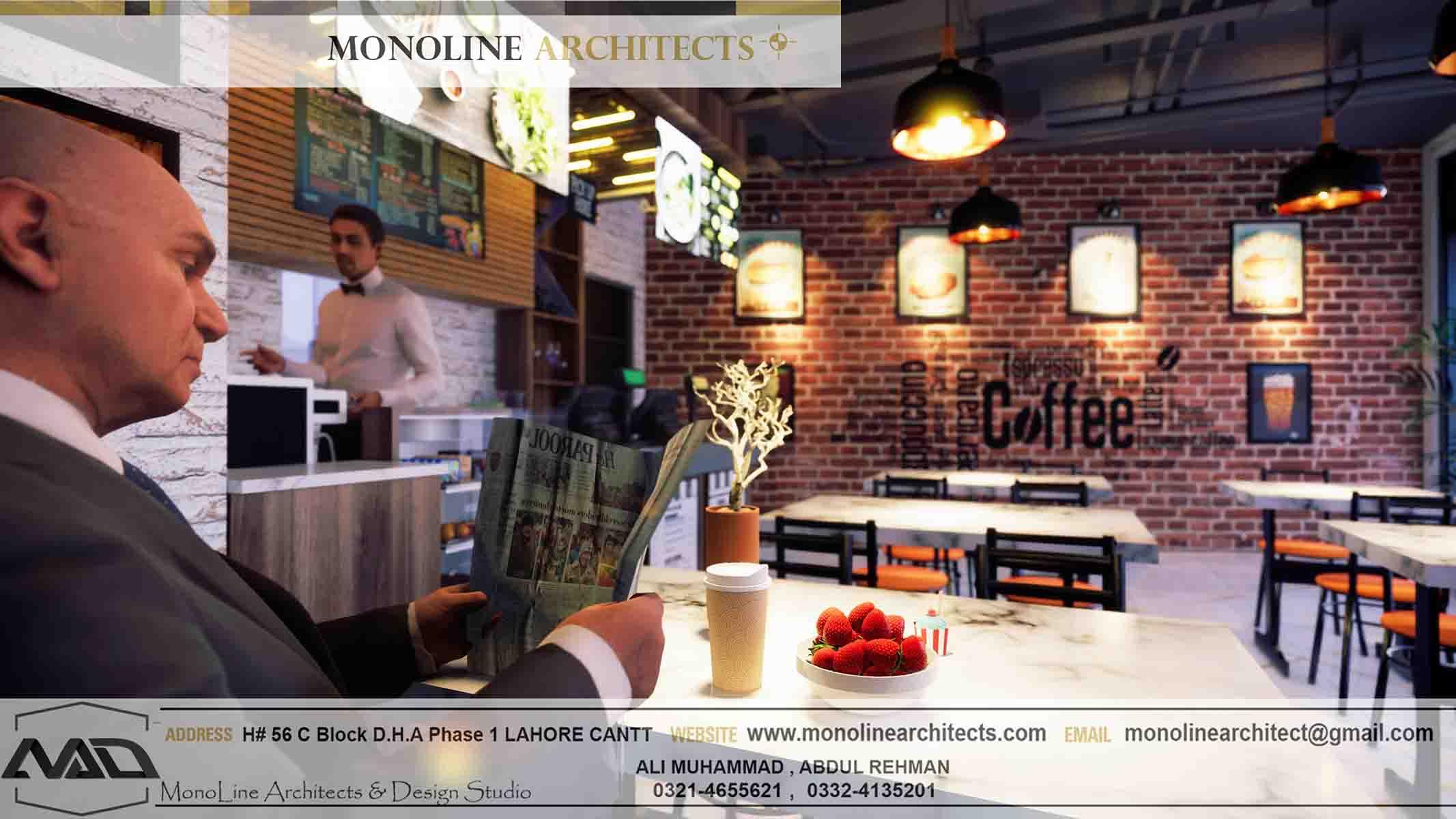 Dubai Cafe 14 by monoline architects