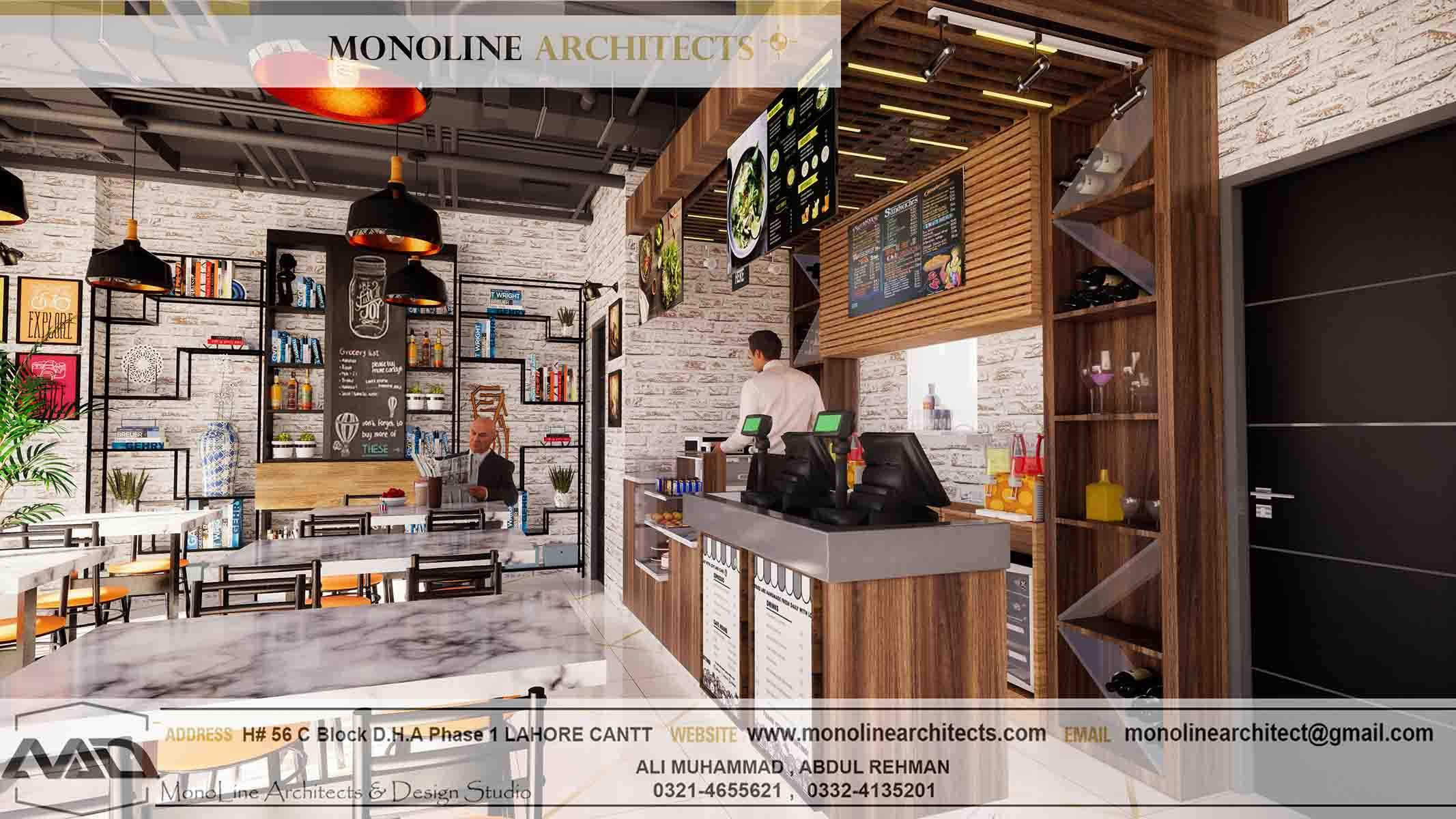 Dubai Cafe 2 by monoline architects