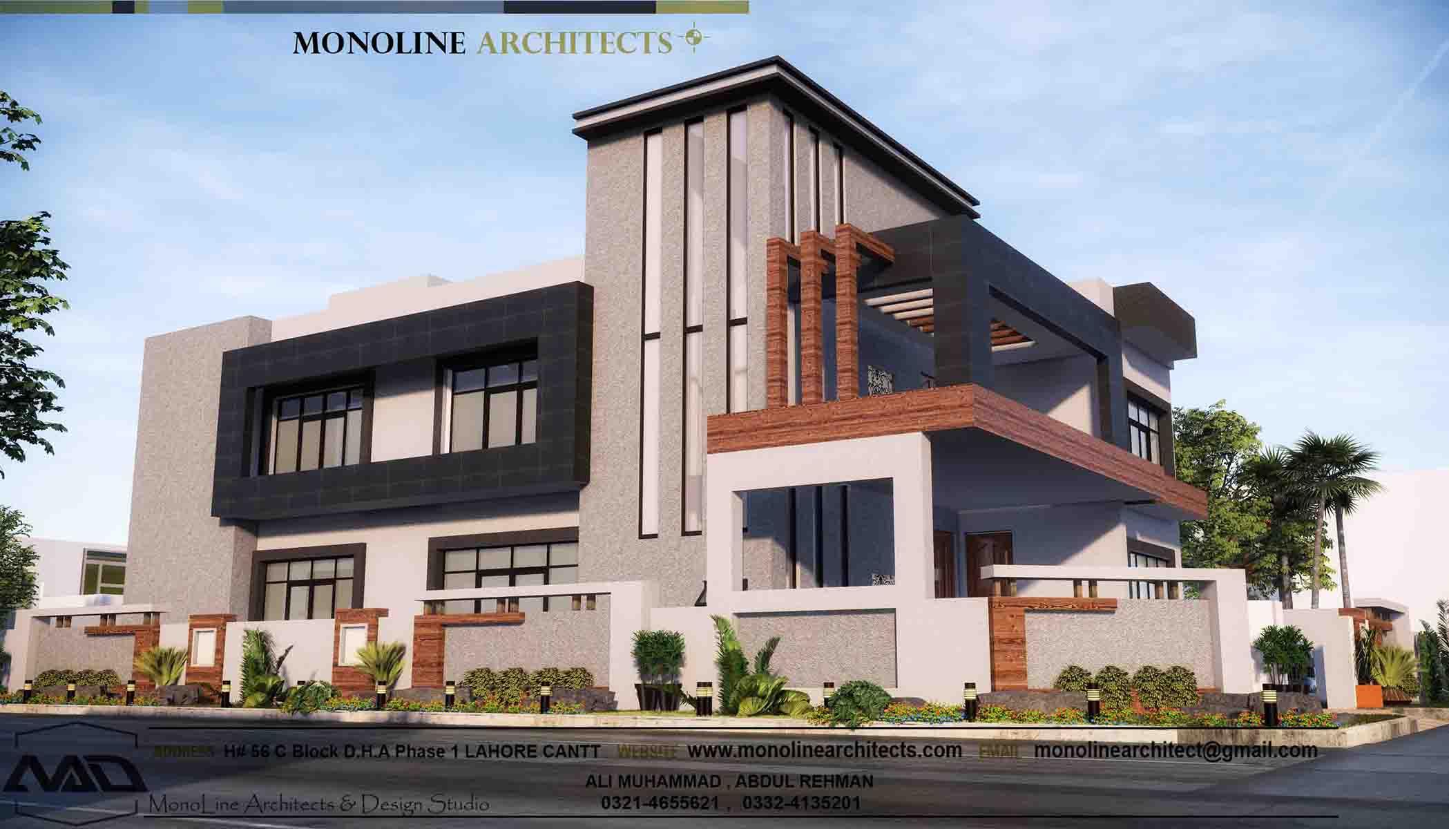 1 kanal luxury house by monoline architects