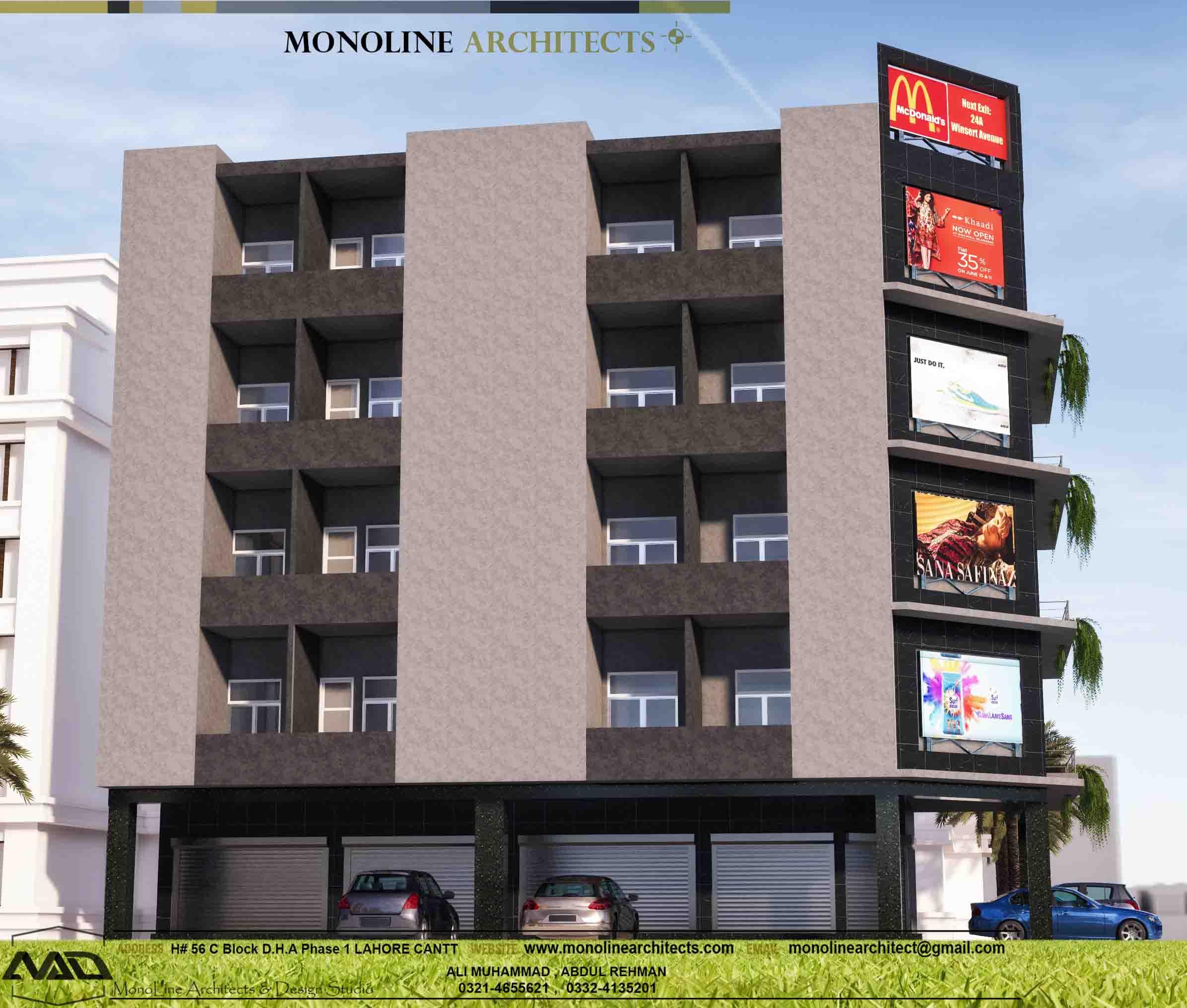 Wapda town plaza 3 by monoline architects